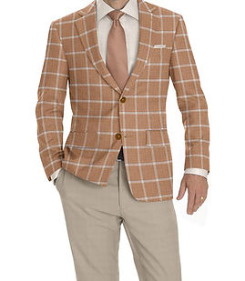 Beige Lt Blue Windowpane Jacket:K4-3874317  Trouser:C6-3644044  Shirt:N7-3753346