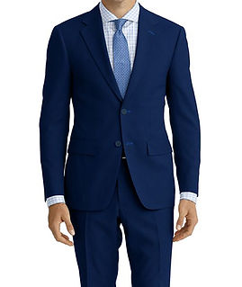 Cobalt Blue Herringbone Suit:E3-4183696  Shirt:N6-4071996