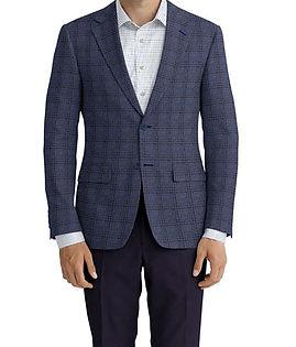 Blue Brown Plaid Jacket:Z3-3962083  Lining:L2-3540518  Trouser:Z3-3962108  Shirt:N6-4071977