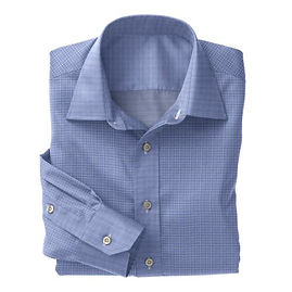 Soktas Blue White Check Poplin Shirt:S2-3540910