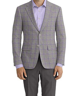 Lt Grey Lavender Check Jacket:Z2-3961948  Trouser:C6-3644031  Shirt:N5-4074726