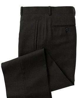 Black Solid Trouser:Z3-3962105