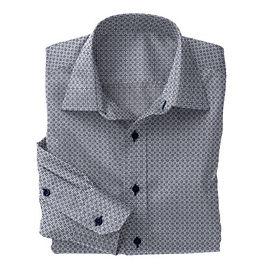 White Navy Deco Floral shirt:N5-4293152