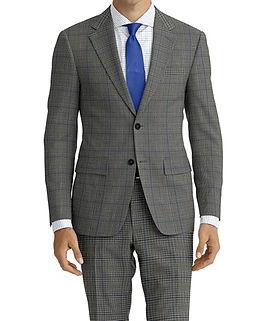 Drago Vantage Grey Blue Plaid Suit:Z2-4071489  Lining:L4-4072720 Shirt:N6-4071977