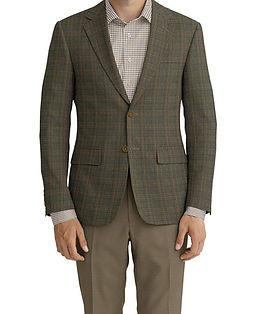 Khaki Brown Check Jacket:K4-4393621  Lining:L4-4072734  Trouser:Z2-4186900  Shirt:N7-4072103