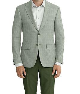 Dormeuil Calypso Moss Mini Check Jacket:Y6-4073648  Lining:L4-4072734  Trouser:K4-3337361  Shirt:N3-3858275
