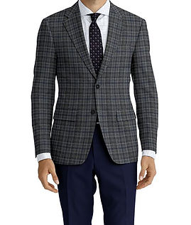 Dormeuil Woodland Ice Blue Grey Check Jacket:Y6-4185326  Lining:L2-3540449  Trouser:Z1-3336885  Shirt:N6-4071977