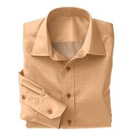 Orange Herringbone Shirt:N3-3340146