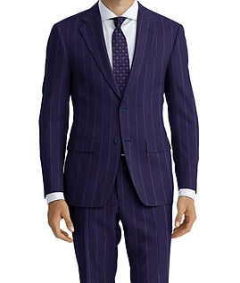 Dormeuil Amadeus Action Midnight Sky Broad Rope Suit:Y4-4185245  Lining:L2-4073137  Shirt:N5-4071750