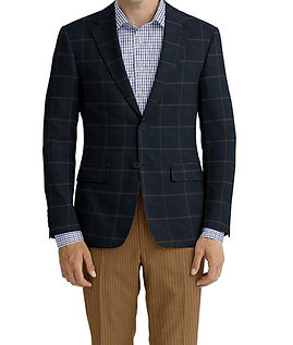 Cerruti Oxygen Navy Rust Windowpane Jacket:Z9-4393532  Lining:L4-4072794  Trouser:C3-4394935  Shirt:N6-4072094