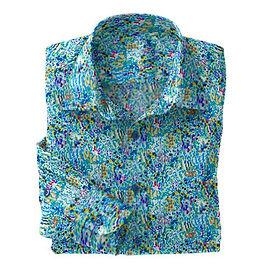Blue Impressionist Stretch Shirt:N7-4073169ts16.jpeg