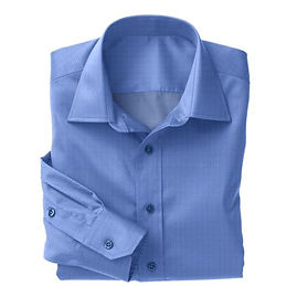 Blue Dobby Solid Shirt:N3-3340134