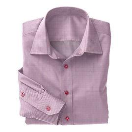 Soktas Pink White Check Twill Shirt:S2-3540958