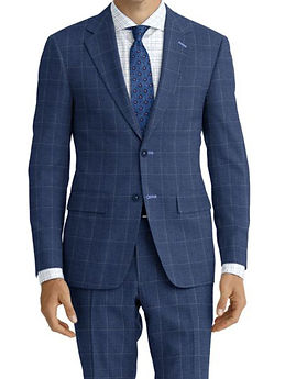 Lt Blue Windowpane Suit:Z4-4071910   Shirt:N6-4071985