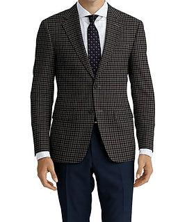 Dormeuil Woodland Grey Tan Tattersall Jacket:Y6-4185352  Lining:L2-3540427  Trouser:Y3-3336957  Shirt:N6-4071977