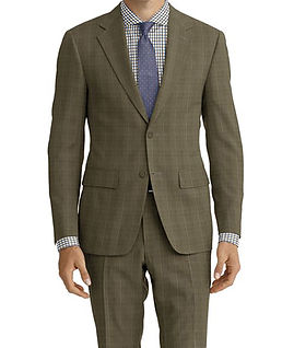 Tan Lt Blue Windowpane Suit:E3-4183681  Shirt:N6-4072033
