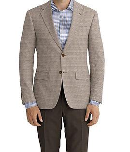 Dormeuil Calypso Natural Mini Check Jacket:Y6-4073656  Lining:L4-4072782  Trouser:Z2-3336926  Shirt:N6-4072094