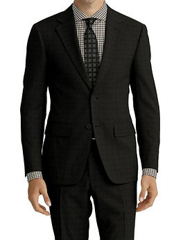 Charcoal Sharkskin Suit:Z4-4071941 Shirt:N7-4072132