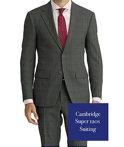 Lt Grey Red Check Suit:E3-4183657