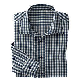 Grey/Blue Check Shirt:N4-3753547