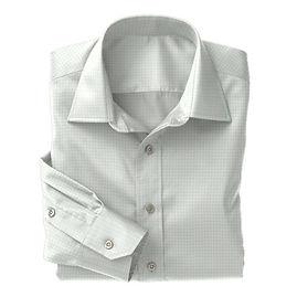 Green Twill Check Shirt:N3-3340118