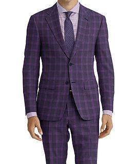 Dormeuil Amadeus Action Dark Blue Purple Check Suit:Y4-4185250  Lining:L4-4072811