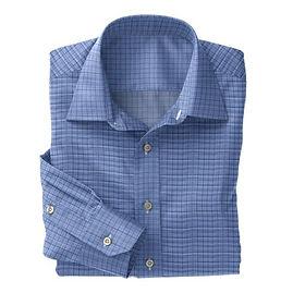Blue Navy Check Shirt:N3-3858204