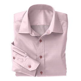 Pink Micro Gingham Check Shirt:N5-3753278