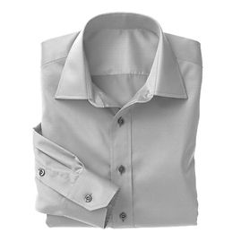 Grey Classic Oxford Shirt:N3-3340140