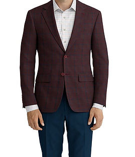 Red Navy Plaid Jacket:K4-4393602  Lining:L4-4072774  Trouser:C3-4394962  Shirt:N6-3858550
