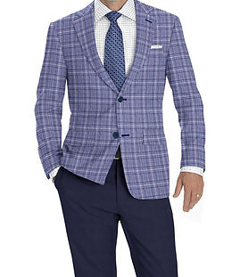 Blue Crème Plaid Jacket:K4-3874375 Trouser:C8-3644102 Shirt:N4-3753153
