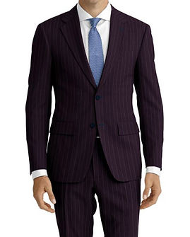 Navy Beaded Stripe Suit:Z4-4071935  Shirt:N5-4071868
