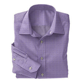 Purple Gingham Check Shirt:N2-3754074