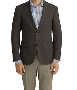 an Brown Blue Check Jacket:K4-4393631  Lining:L4-4072782  Trouser:Z2-4186901  Shirt:N6-4072033