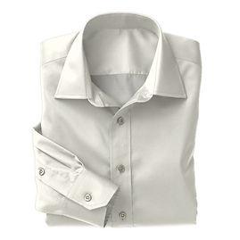 Creme Twill Solid Shirt:N3-3340155