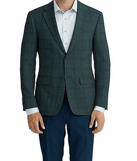 Evergreen Houndstooth Blue Windowpane Jacket:K4-4393612  Lining:L4-4072730  Trouser:C3-4394962  Shirt:N6-4071992