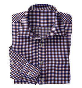 Brown Blue Check Shirt:N5-4074732