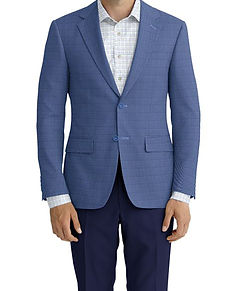 Dormeuil Dorsilk Blue Sky Puppytooth Sportcoat:Y6-4073717  Lining:L4-4072735  Trouser:K1-3336879  Shirt:N6-4071985