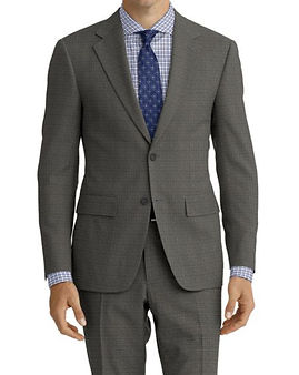 Lt Grey Nailhead Suit:Z4-4071958  Shirt:N6-4072013