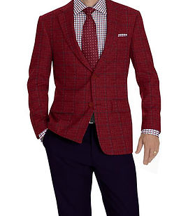 Berry Grey Windowpane Jacket:K4-3874314 Trouser:Z2-4186918  Shirt:N6-4072034