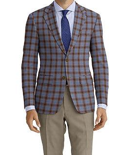 Blue Brown Plaid Jacket:K4-4073373 Trouser:Z2-4186899  Shirt:N6-4071991