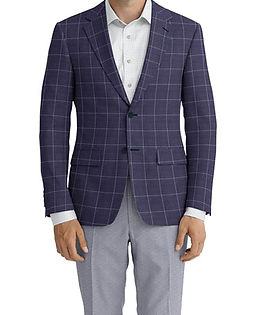 Indigo Blue Windowpane Jacket:Z2-3961932  Trouser:C8-3644152  Shirt:N4-3753155