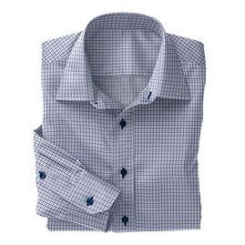 Blue Check Twill Shirt:S4-3541073