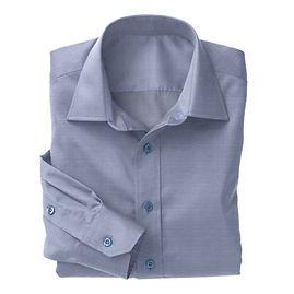 Blue Herringbone Shirt:N3-3340144
