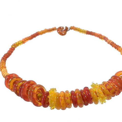 Circus hoopla necklace