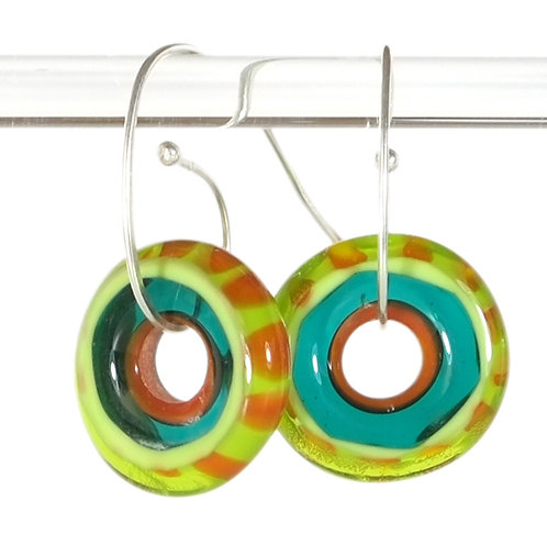 Roly-poly glass earrings