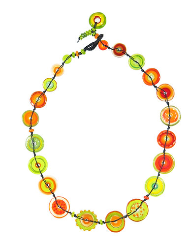 mango and lime jelly necklace