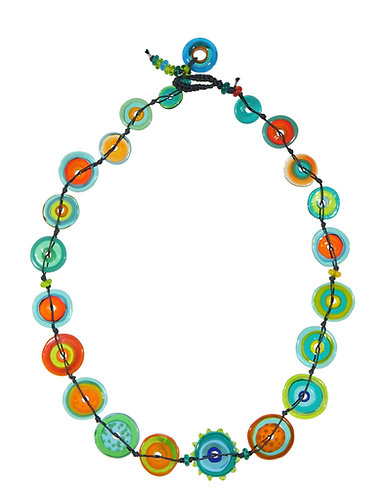 multicoloured short jelly necklace