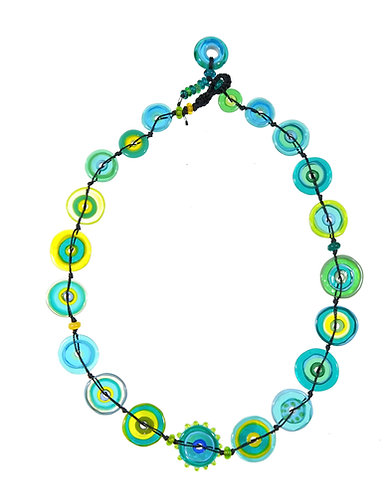 Aqua jelly necklace