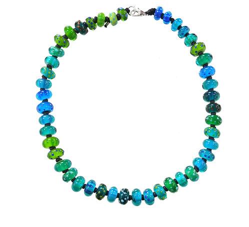 Very Berry necklace Aqua blues